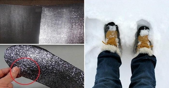 Többé nem fognak megfagyni a lábaid télen. Csupán egy darab alufóliára van szűkséged!