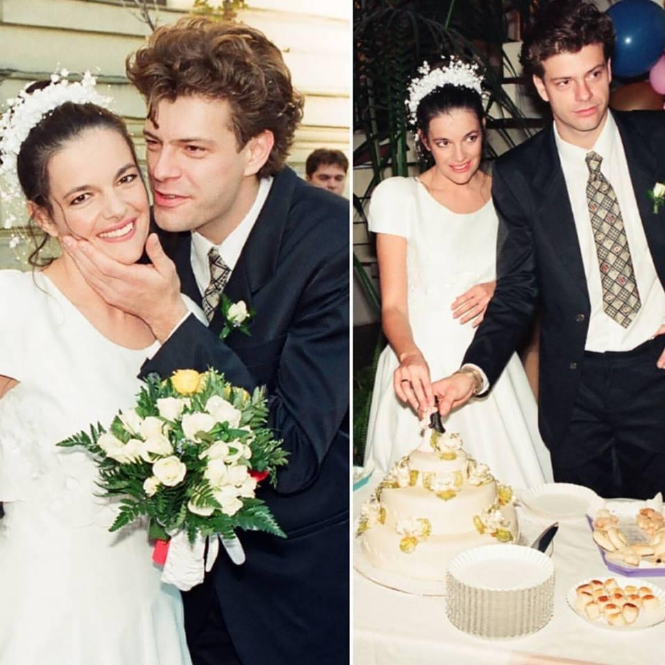 Így nézett ki Tilla 20 évvel ezelőtt, az esküvőjén