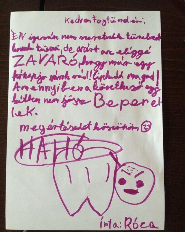 Szenzációs levelet írt a Fogtündérnek egy 10 éves magyar kislány