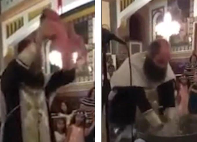 Rendkívül erőszakos keresztelőt filmeztek le egy ciprusi ortodox templomban