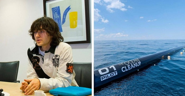 2012-ben ez a kölyök megálmodta a megoldást a tengerek megtisztítására. 6 évvel később beindult az első gépezet