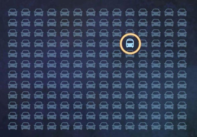 A legtöbb ember nem találja meg a buszt az autók között - Neked menni fog?