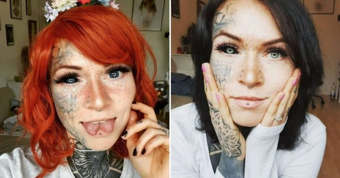 Kettévágatta a nyelvét, tucatnyi tetoválása van, még a szemgolyóját is befestette a 30 éves nő