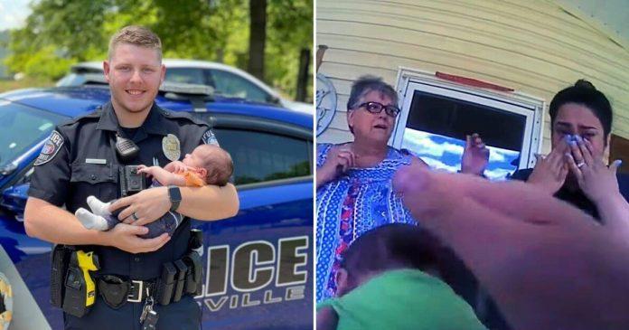 """""""Megváltoztatja az ember életét"""" - hős lett a rendőr, aki megmentette egy 3 hetes fuldokló csecsemő életét"""