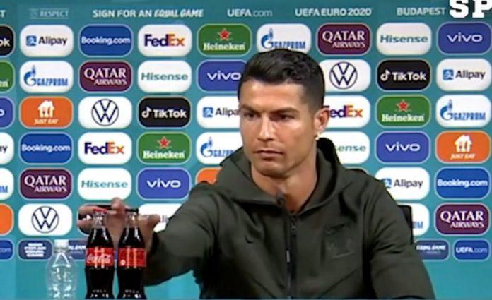 Kiakadt Cristiano Ronaldo, amiért kólát rakta elébe Budapesten