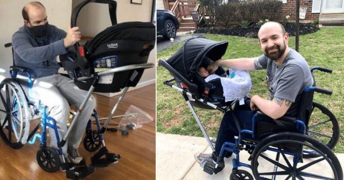 A mozgássérült édesapa nem tudta sétálni vinni a fiát, diákok építik neki kerekesszékes babakocsit